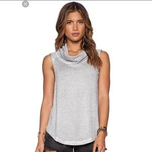Free People-Timber Cowl Neck Tank Top